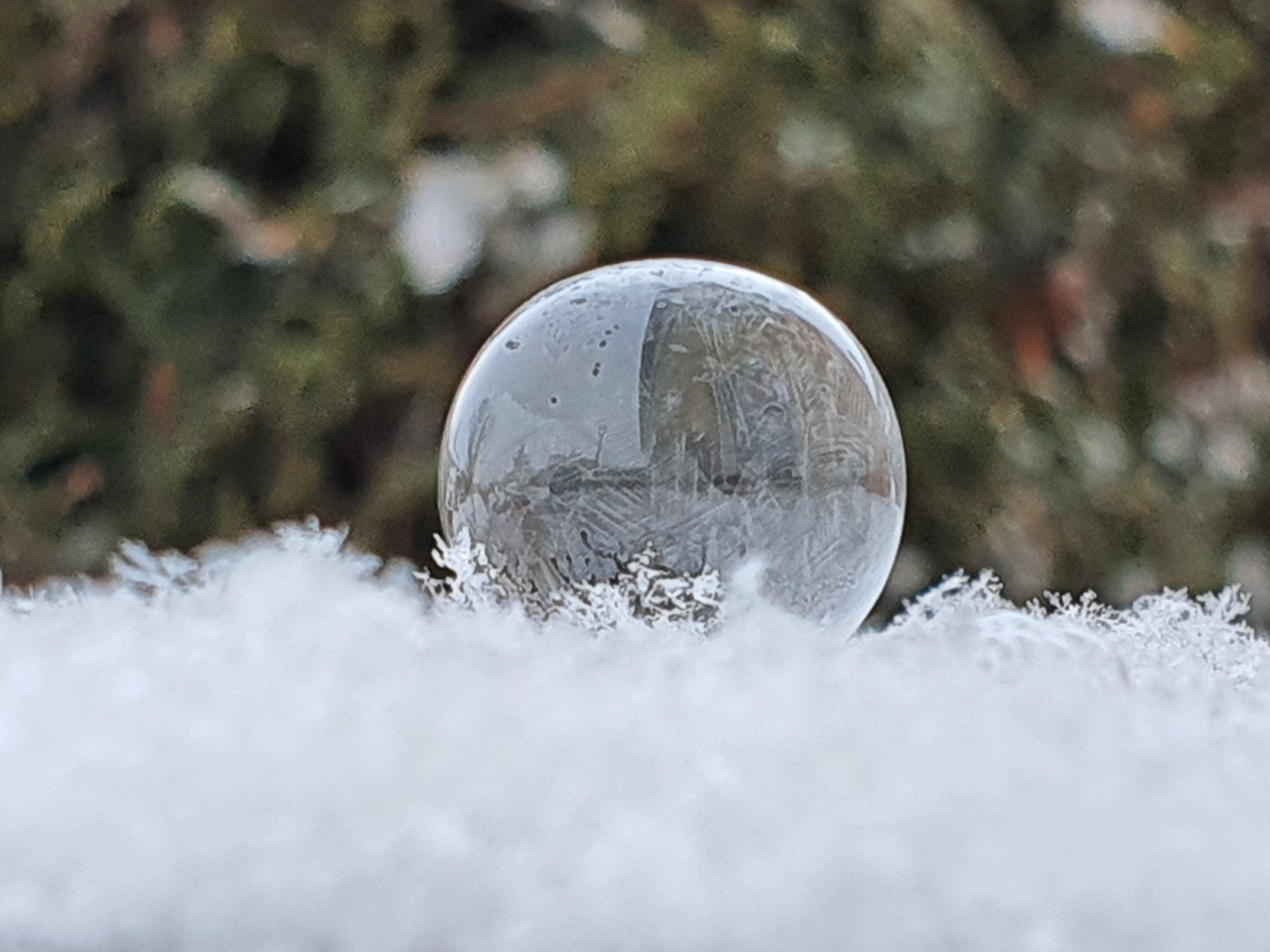 Eisige Seifenblasen